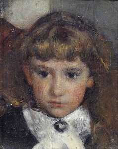Frank Huddlestone Potter - Head of a Girl