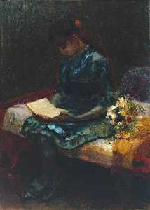 Frank Huddlestone Potter - A Girl Reading