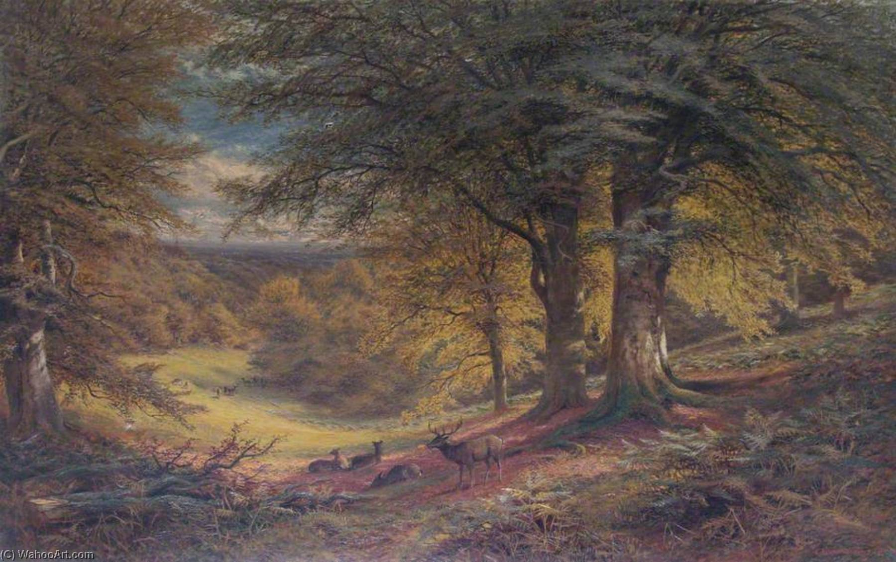 Order Museum Quality Copies | Under the Beeches by Alfred Augustus Glendening | WahooArt.com