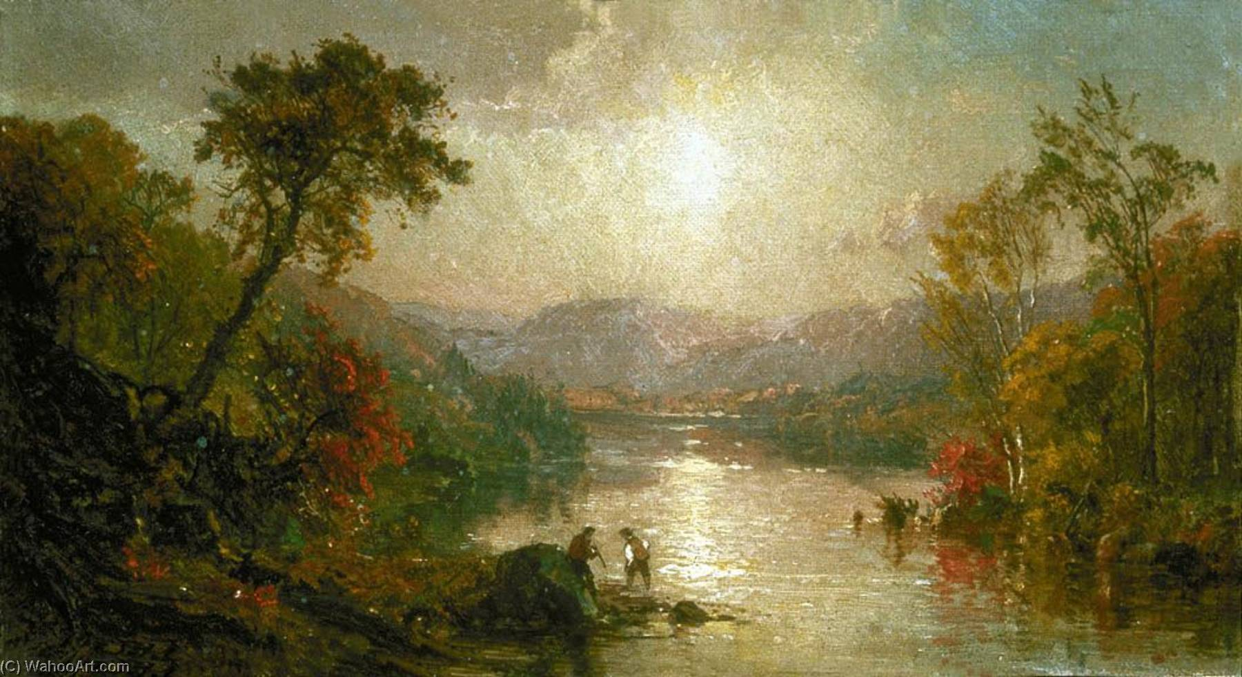 Indian Summer, 1886 by Jasper Francis Cropsey (1823-1900, United States) | Oil Painting | WahooArt.com