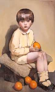Norah Neilson Gray - Little Boy with Oranges