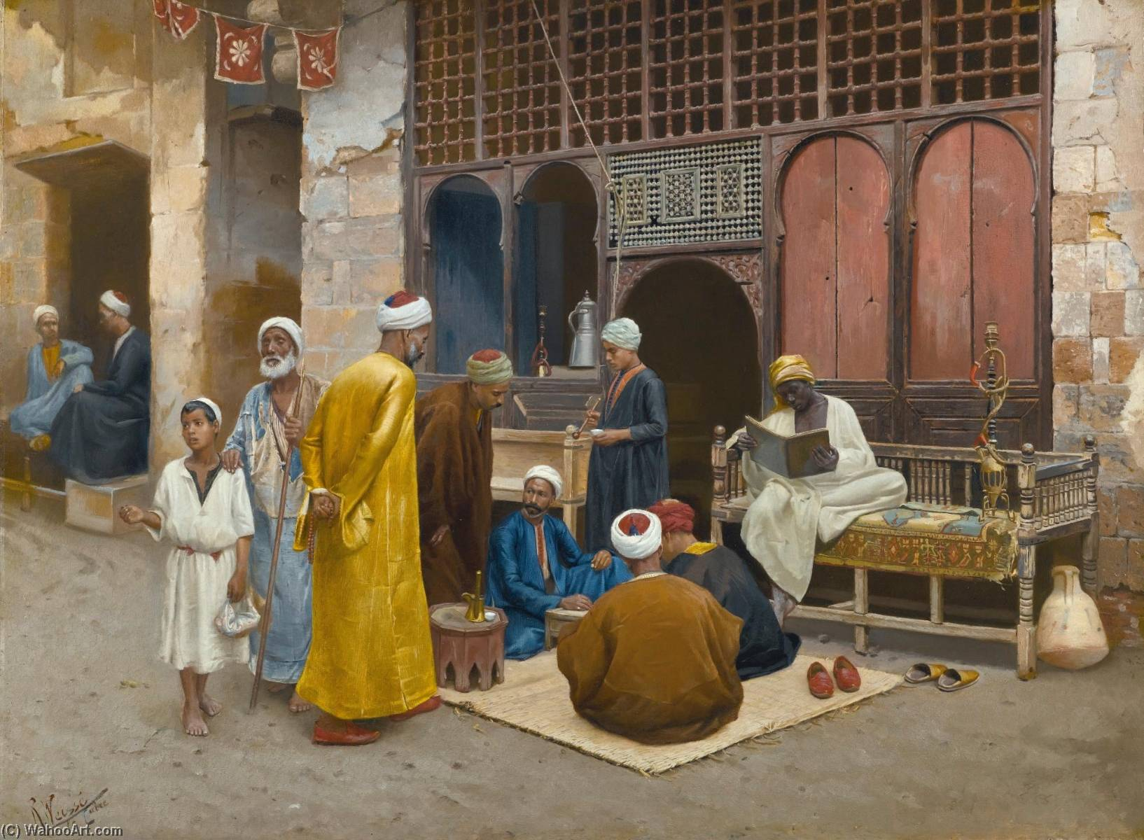The Dice Players by Rudolf Weisse | Oil Painting | WahooArt.com