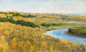 Vasily Dmitrievich Polenov - The River Oka in Golden Autumn