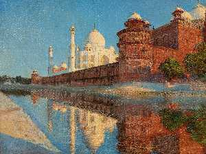 Vasily Vasilievich Vereschagin - The Taj Mahal, Evening