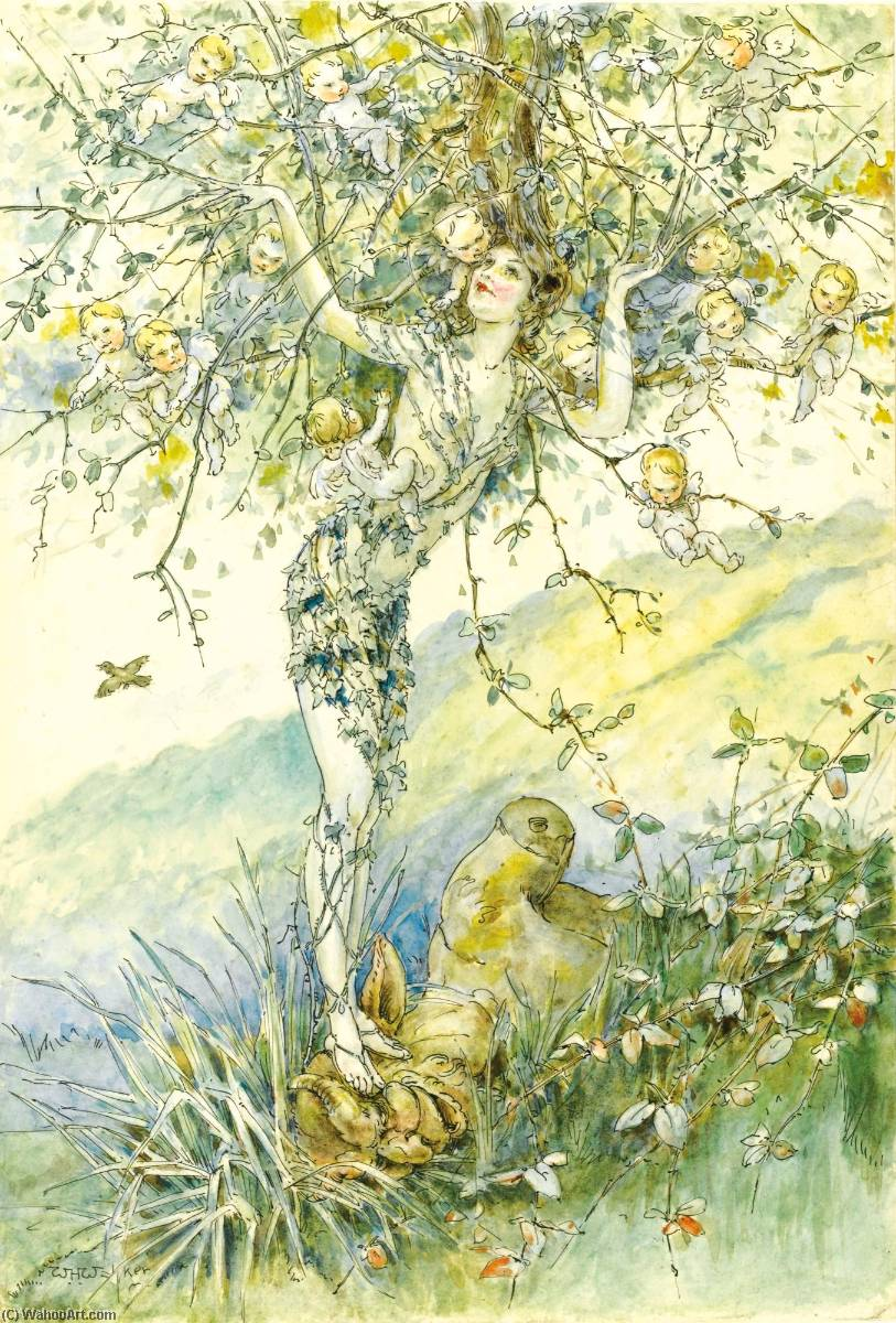 Order Paintings Reproductions | The Apple Tree by William Henry Walker | WahooArt.com