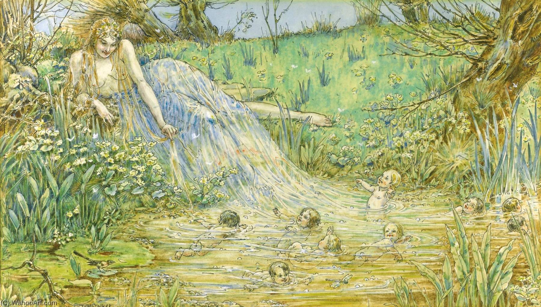 The Spring by William Henry Walker | Museum Art Reproductions William Henry Walker | WahooArt.com