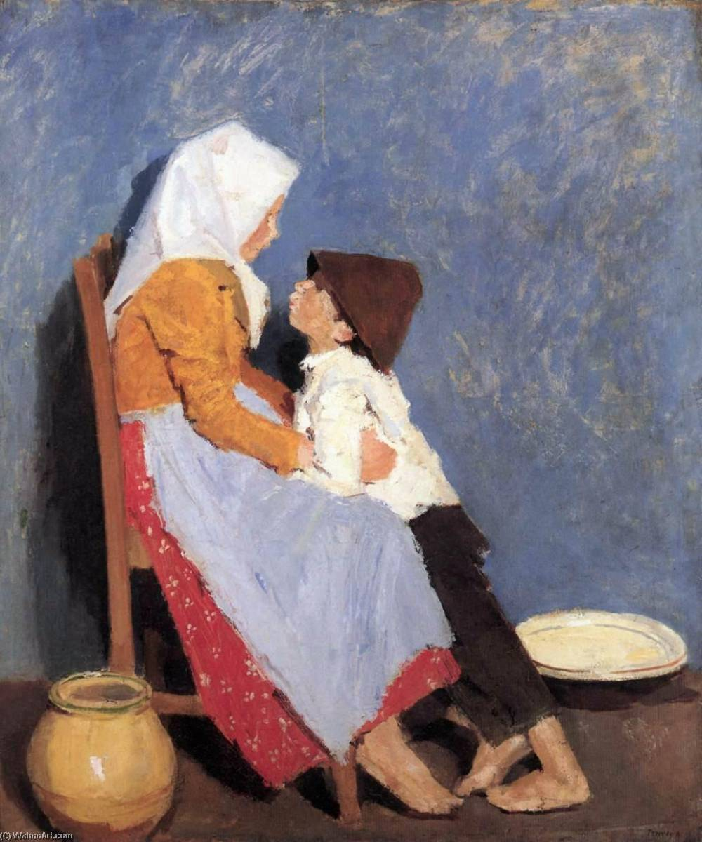 Brother and Sister, 1906 by Adolf Fényes (1867-1945) | Reproductions Adolf Fényes | WahooArt.com
