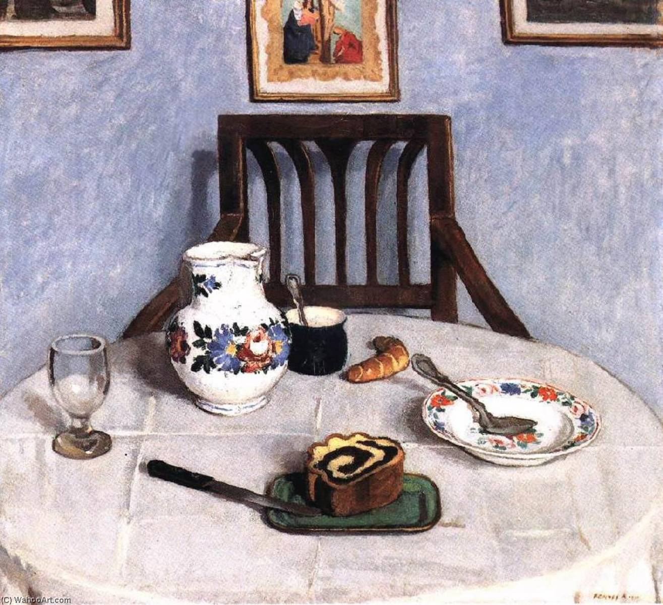 Poppy seed Cake, 1910 by Adolf Fényes (1867-1945) | Paintings Reproductions Adolf Fényes | WahooArt.com