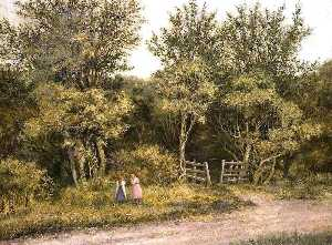 Alfred John Bamford - Entrance to Norton Common