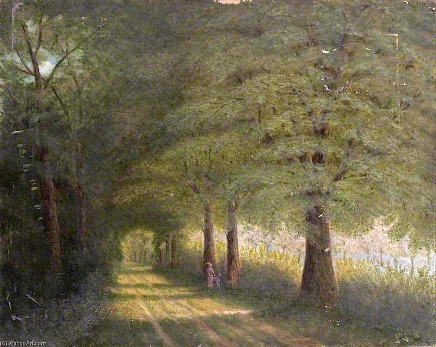 Gypsy Lane, Walsoken, Norfolk, 1913 by Alfred Balding | Museum Quality Copies Alfred Balding | WahooArt.com
