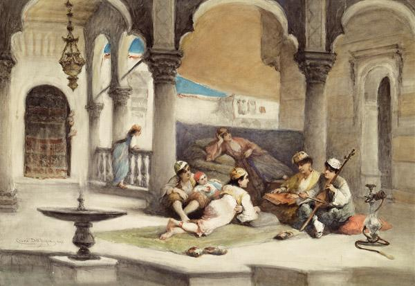 Buy Museum Art Reproductions | Music Lesson in the Palace, 1895 by Cesare Dell'acqua | WahooArt.com