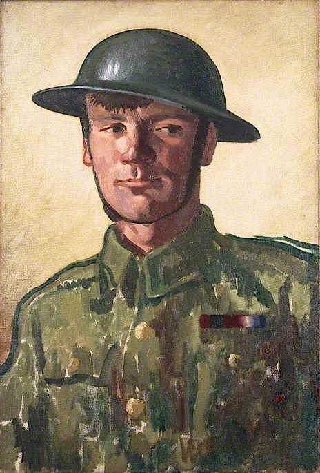 A Gunner, Oil On Canvas by Colin Unwin Gill