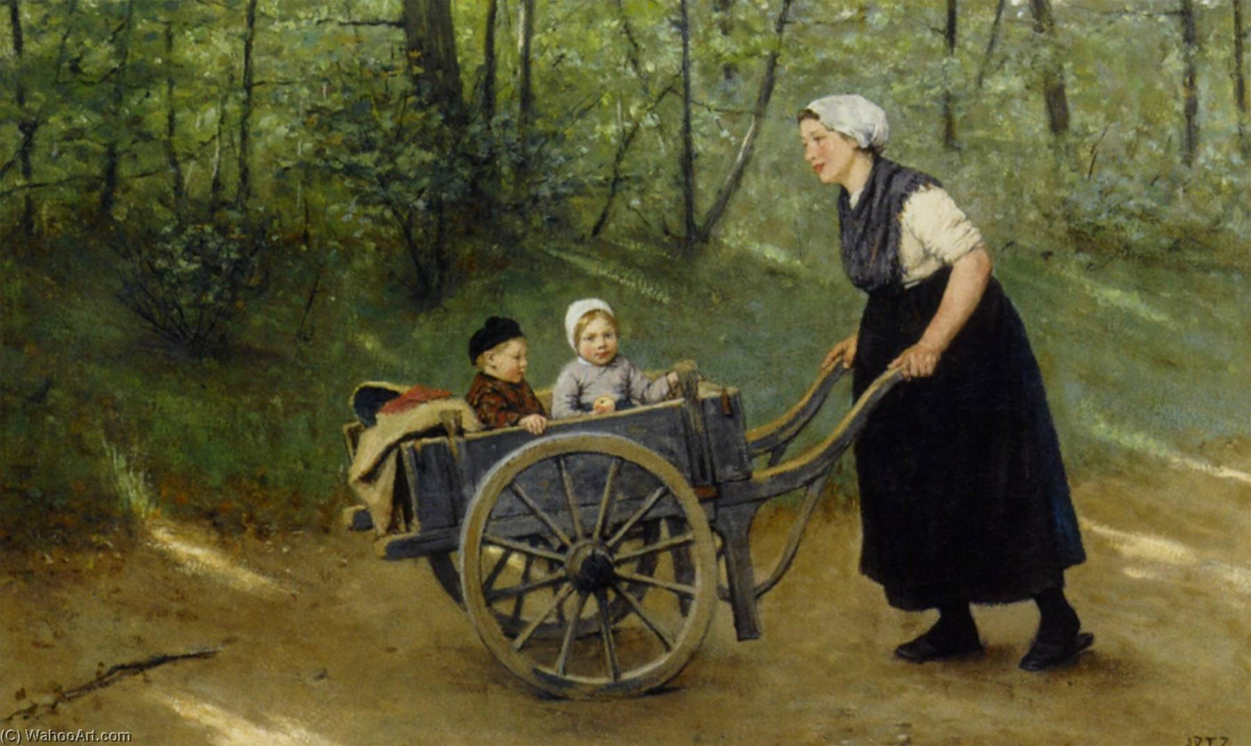A Joyful Ride, 1876 by Adolph Artz (David Adolf Constant Artz) (1837-1890, Netherlands) | Paintings Reproductions Adolph Artz (David Adolf Constant Artz) | WahooArt.com