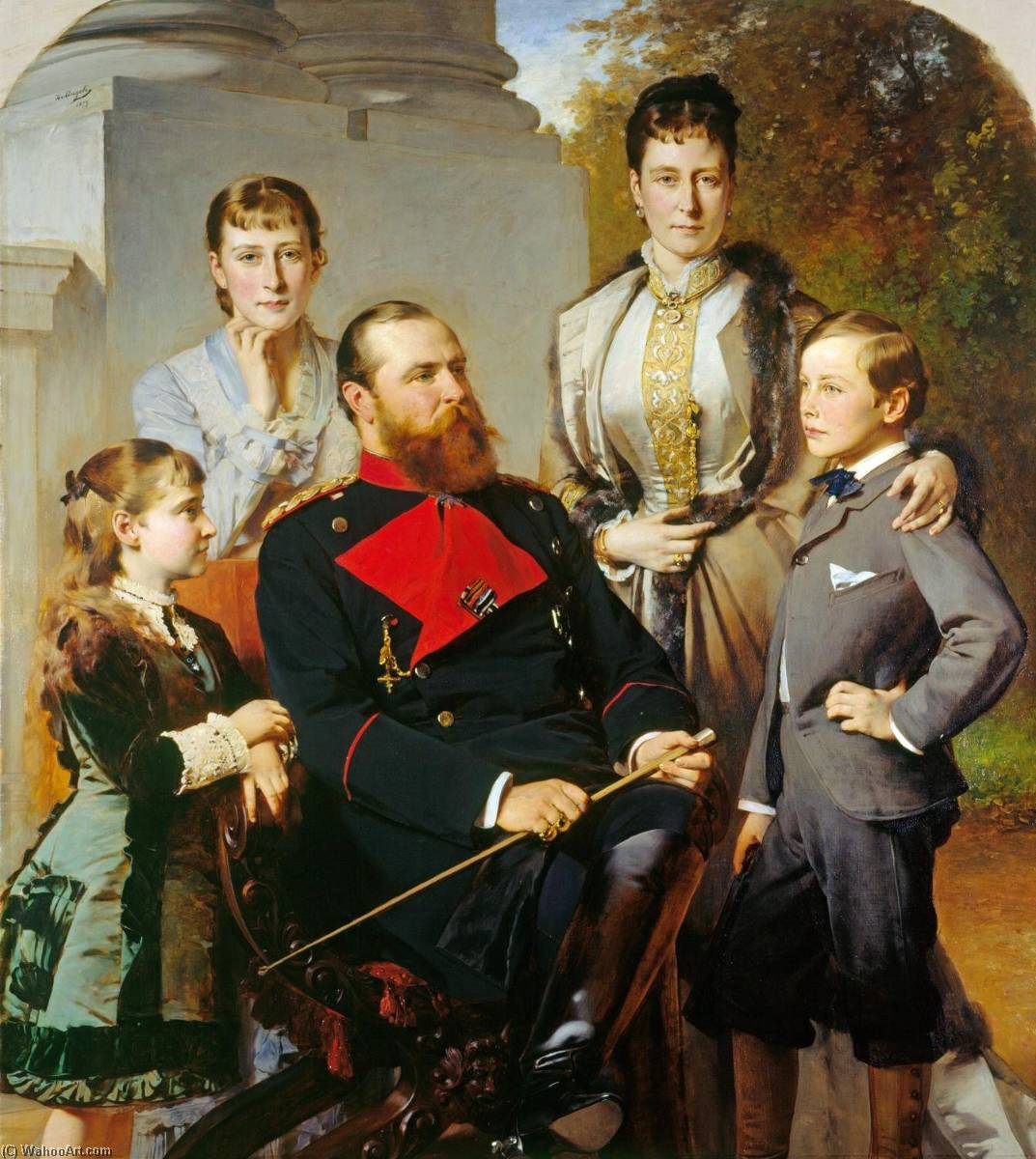 The Family of the Grand Duke of Hesse, 1879 by Heinrich Von Angeli | Museum Quality Copies Heinrich Von Angeli | WahooArt.com