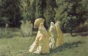 Order Museum Quality Copies | The Favorites in the Park, 1880 by Cesare Biseo | WahooArt.com