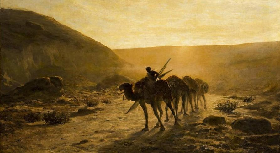 In the Desert (Nel deserto), 1889 by Cesare Biseo | Reproductions Cesare Biseo | WahooArt.com