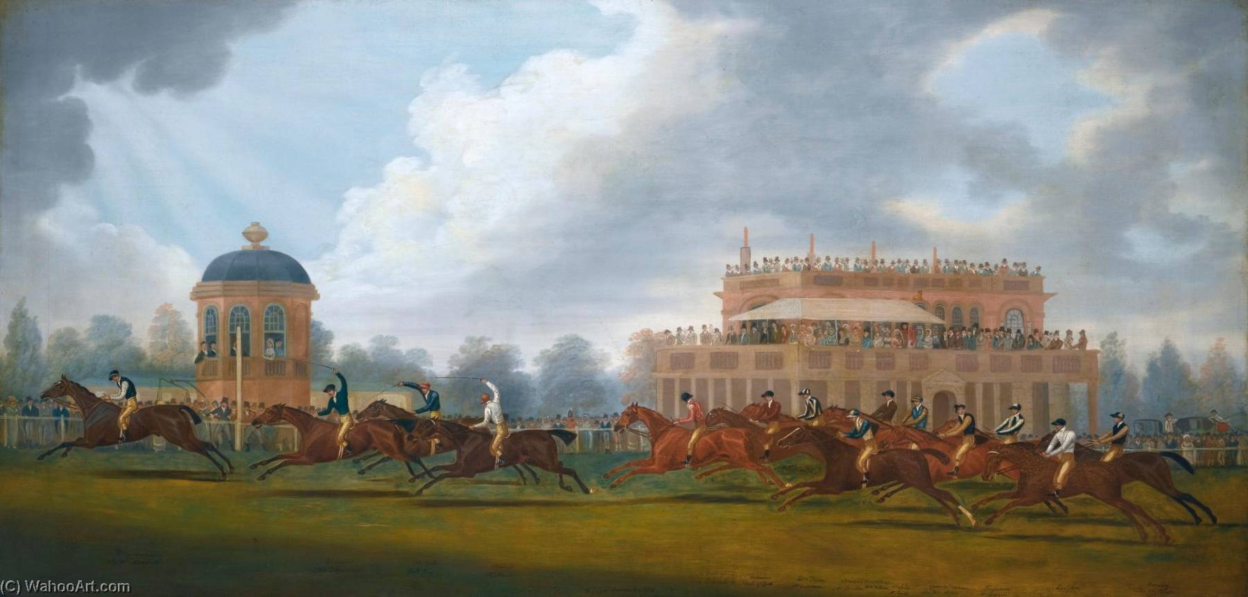 The Finish of the St. Leger Stakes, 1815 by Clifton Tomson | Museum Quality Reproductions | WahooArt.com