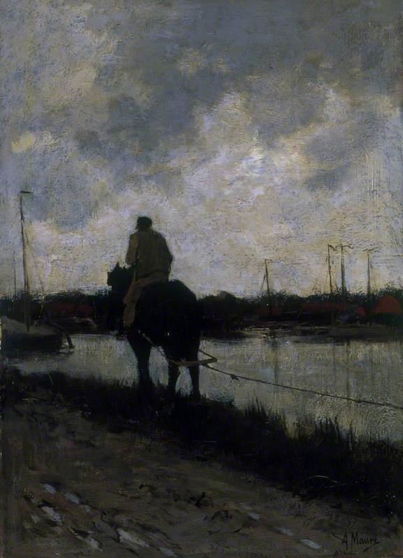 The Tow Path No.1, 1878 by Anton Mauve (1838-1888, Netherlands) | Museum Quality Copies Anton Mauve | WahooArt.com