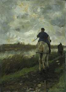 Anton Mauve - The Tow Path No.2