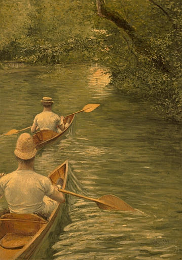PERISSOIRES, Oil by Gustave Caillebotte (1848-1894, France)