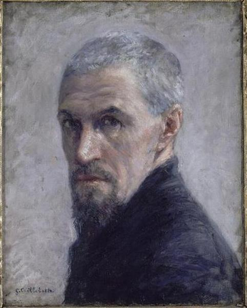 AUTOPORTRAIT, Oil by Gustave Caillebotte (1848-1894, France)