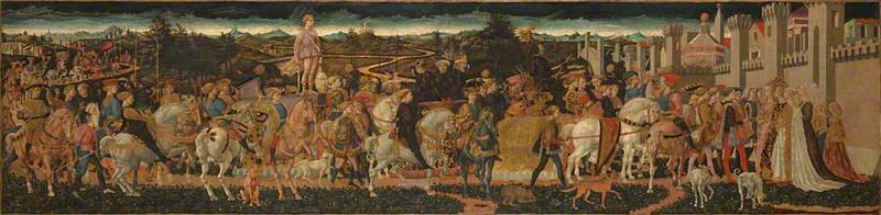The Triumph of David, 1445 by Francesco Di Stefano Pesellino (1422-1457) | Oil Painting | WahooArt.com