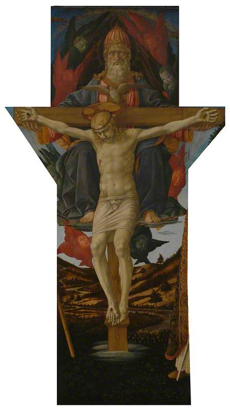 The Trinity, 1455 by Francesco Di Stefano Pesellino (1422-1457) | Museum Quality Reproductions | WahooArt.com