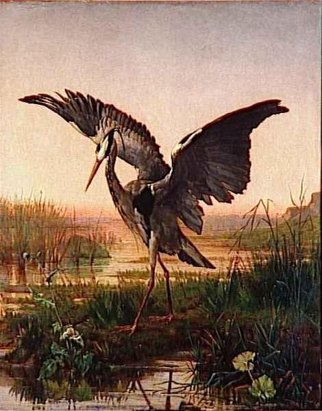 The Heron by Emile Villa | Museum Quality Reproductions | WahooArt.com