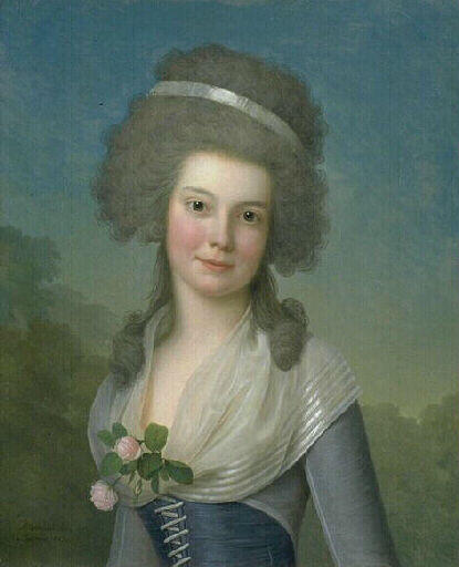 Order Museum Quality Copies | Portrait de Mademoiselle Susan Johnston by Adolf Ulrik Wertmüller (1751-1811, Sweden) | WahooArt.com