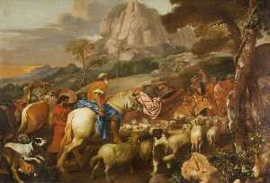 Giovanni Benedetto Castiglione - The Angel Appearing to the Shepherds