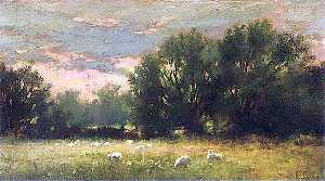 Ferdinand E Gröne - Evening at Lexden, Essex