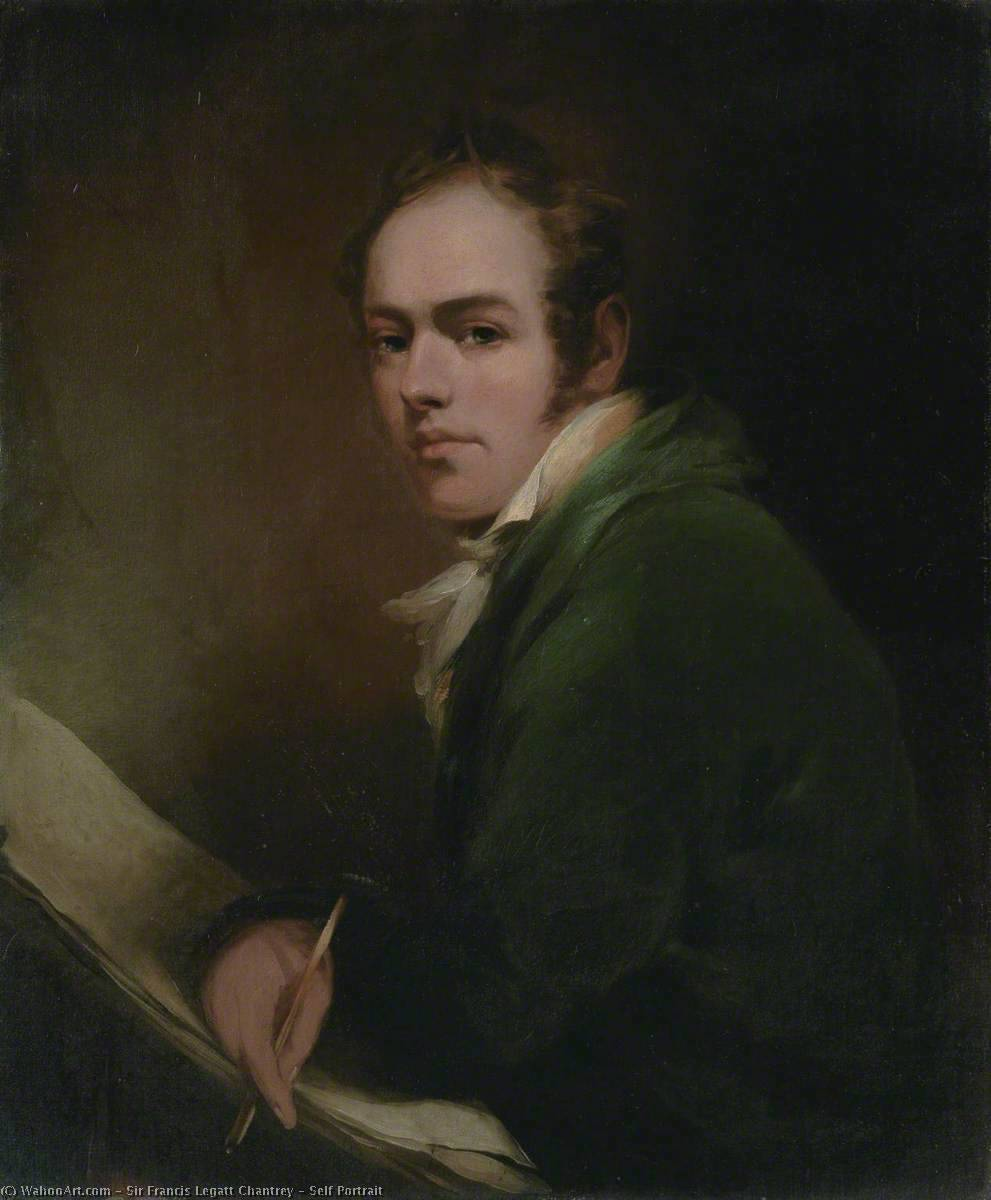 Self Portrait, 1810 by Francis Legatt Chantrey (1782-1841, United Kingdom) | Paintings Reproductions Francis Legatt Chantrey | WahooArt.com