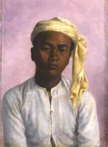 Gertrude Ellen Burrard - Maung Pe, a Chaprasi in the Triangulation Survey Party