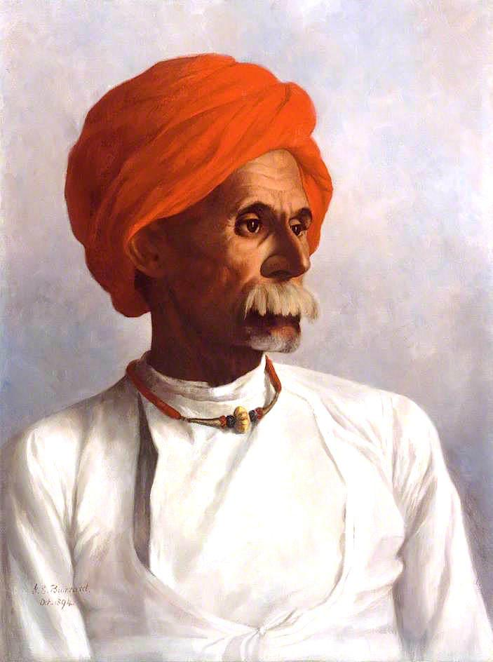 Gunga, a Hindu from Oudh and a Chaprasi of No.22 Astronomical Survey Party, 1894 by Gertrude Ellen Burrard | Oil Painting | WahooArt.com