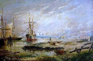 George Vemply Burwood - Lowestoft Inner Harbour, Lake Lothing, Suffolk