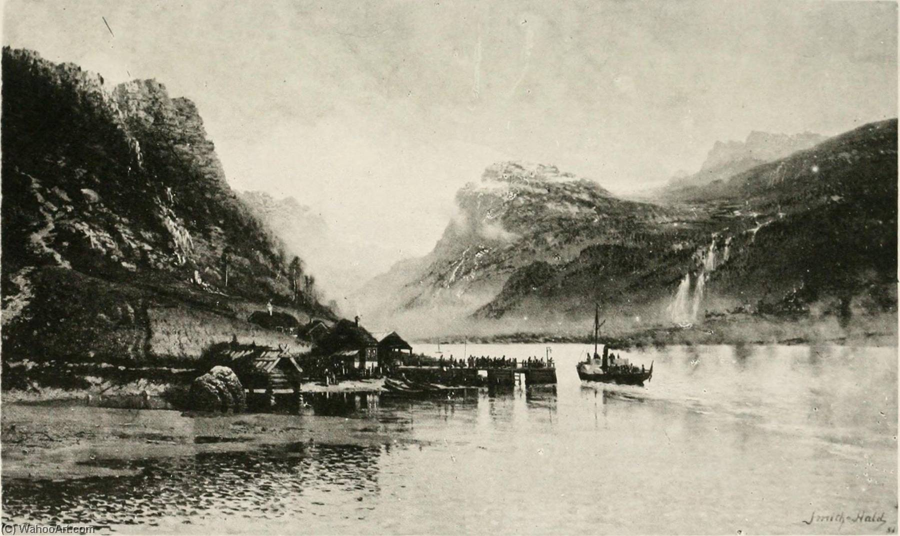 French Le Lac de Bandaksvandet by Frithjof Smith Hald