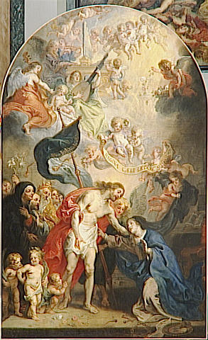 LE CHRIST RESSUSCITE APPARAISSANT A LA VIERGE by Theodor Van Thulden (1606-1669, Netherlands) | Famous Paintings Reproductions | WahooArt.com