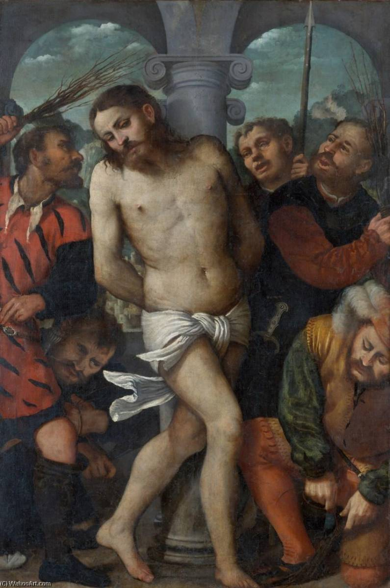 The Flagellation, 1540 by Gerolamo Romanino | Oil Painting | WahooArt.com