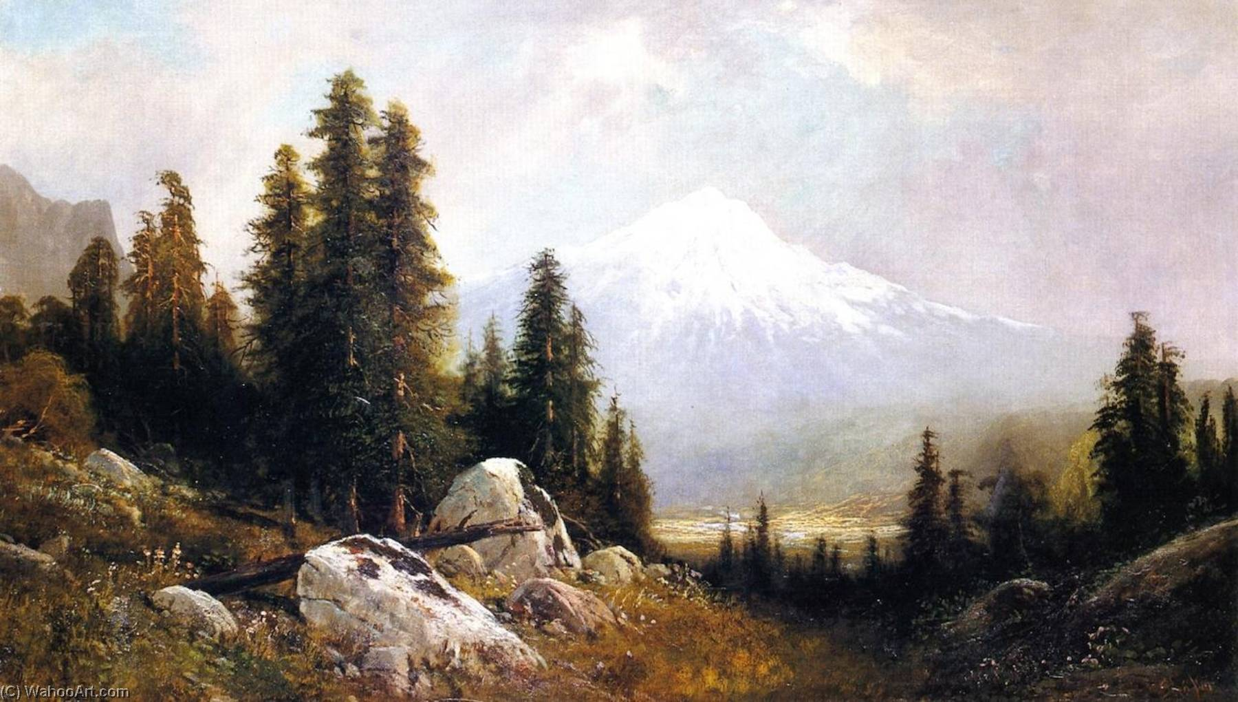 Mount Shasta (also known as Mountain Composition), 1880 by Frederick Ferdinand Schafer | Museum Quality Copies Frederick Ferdinand Schafer | WahooArt.com