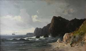 Order Reproductions | English North Heads on the Pacific Coast, California by Frederick Ferdinand Schafer | WahooArt.com