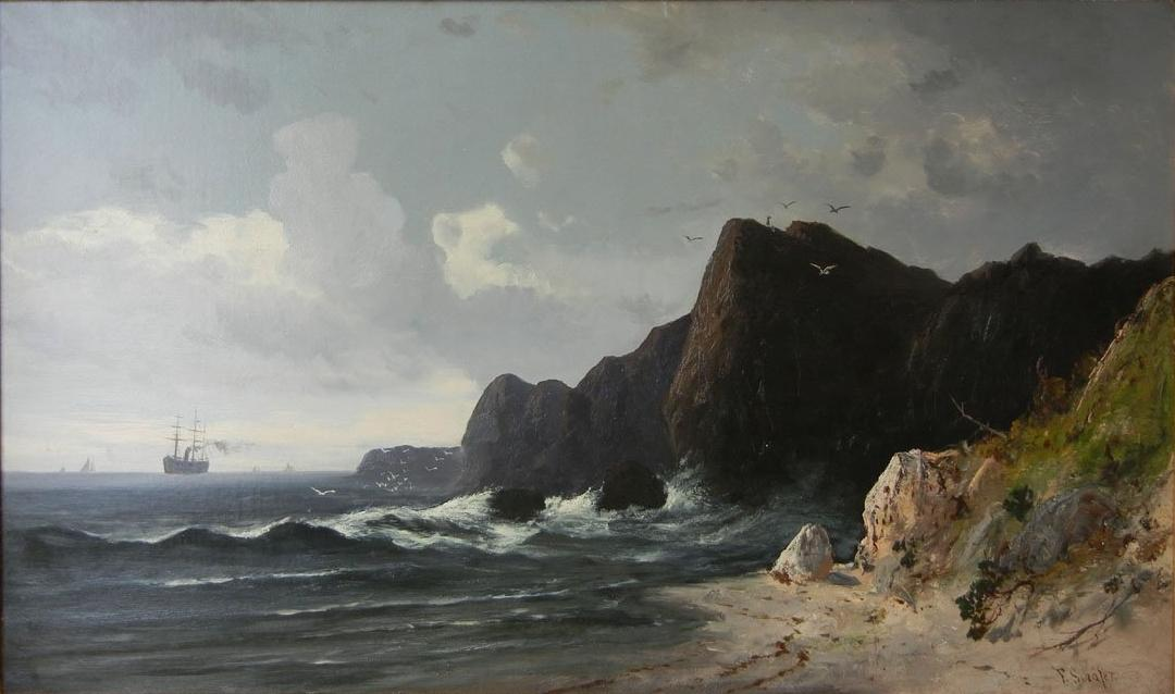English North Heads on the Pacific Coast, California by Frederick Ferdinand Schafer | Reproductions Frederick Ferdinand Schafer | WahooArt.com