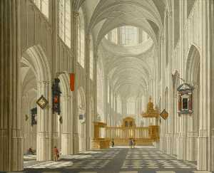 Daniel De Blieck - Interior of a Church