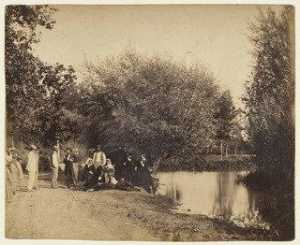 Gustave Le Gray - Group by the Millpond at Petit Mourmelon