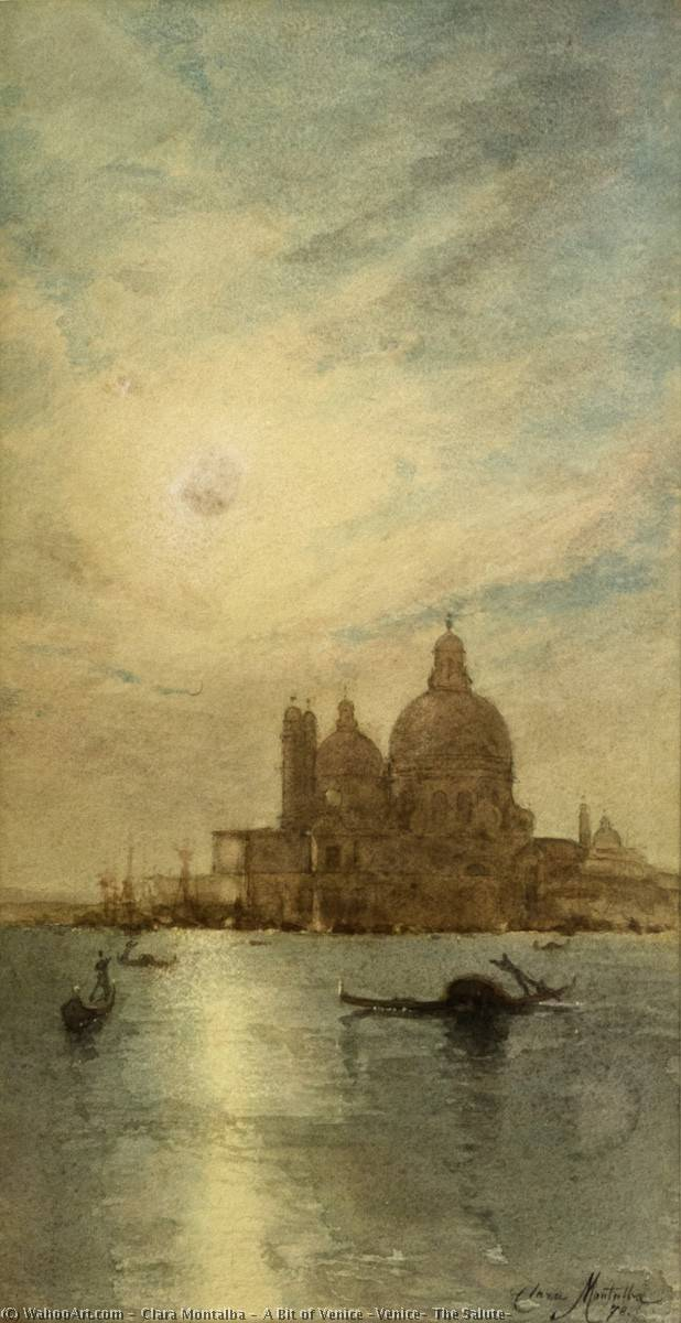 A Bit of Venice (Venice, The Salute), 1878 by Clara Montalba (1842-1929, United Kingdom) | Museum Quality Reproductions | WahooArt.com