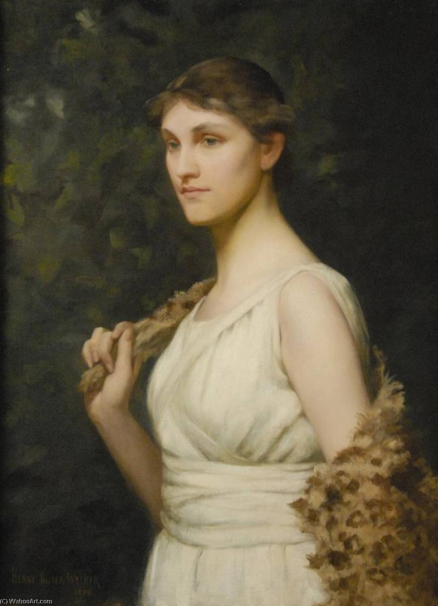 Ideal Woman, Oil On Canvas by Henry Oliver Walker
