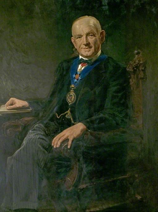 Portrait of an Unknown Chairman of Derbyshire County Council by Harold Gresley (1892-1967) |  | WahooArt.com