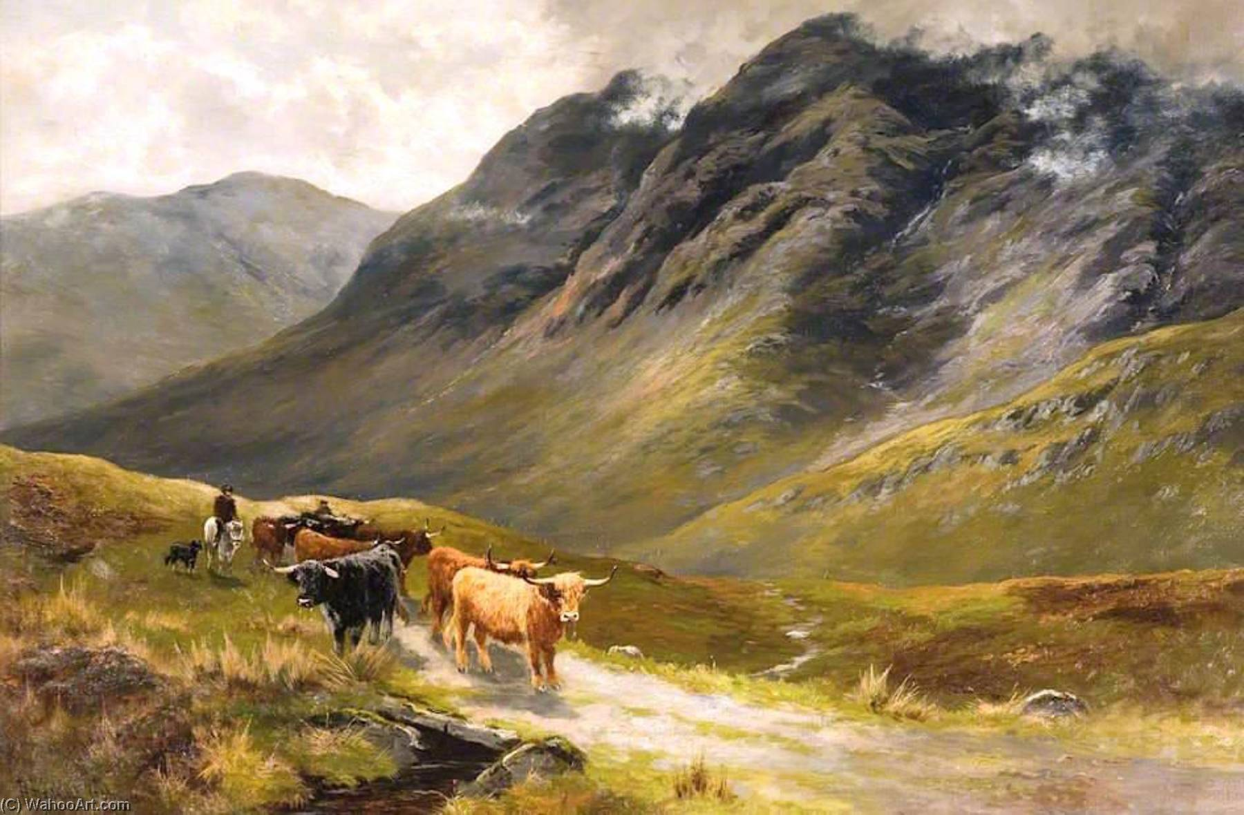 Highland Cattle by Hanry Hadfield Cubley | Painting Copy | WahooArt.com