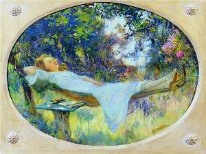 Henri Gaston Darien - A lazy afternoon