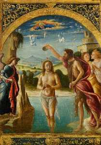Pietro Di Francesco Degli Orioli - The Baptism of Christ