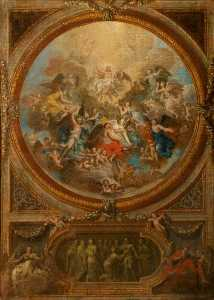 Louis Laguerre - The Ascension and the Incredulity of Saint Thomas (sketch for the decoration of the chapel at Chatsworth)
